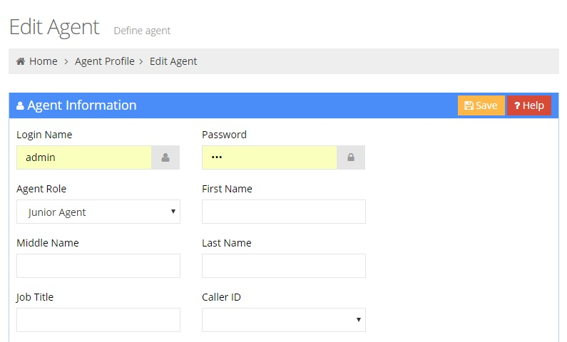 Edit an Agent Page