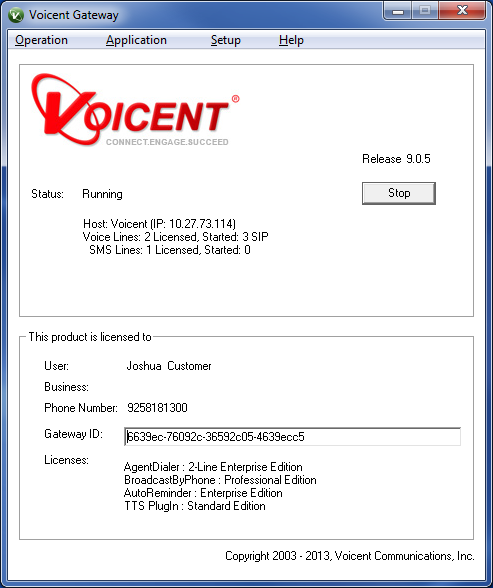 Voicent Gateway Window