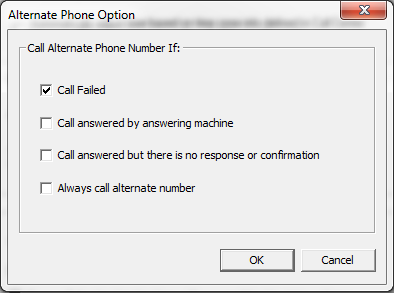 Alternate Phone Rule Option