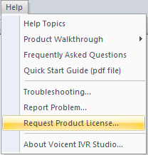 request a product license button