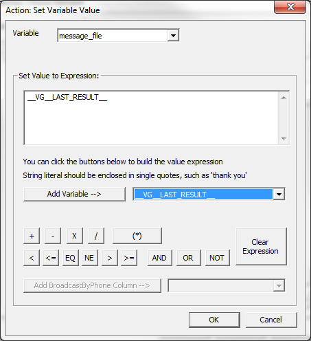 Set IVR variable value
