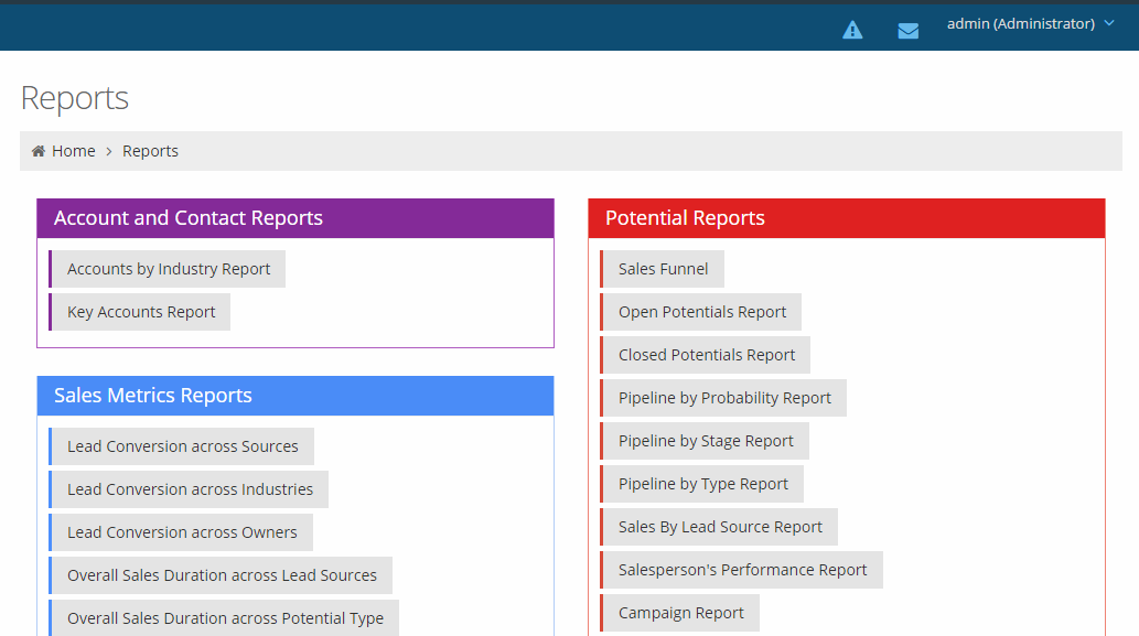 CRM reports by Voicent