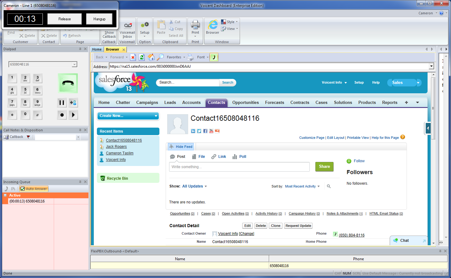Salesforce Crm Outbound Inbound Dialer Integration