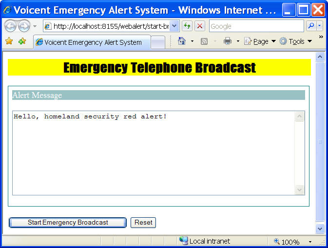 Building A Web Based Emergency Notification System