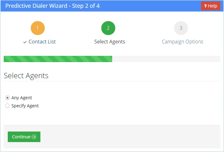 Select Agents for Predictive Dialer Campaign