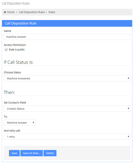 Set Up Automatic Call Disposition Auto Dialer