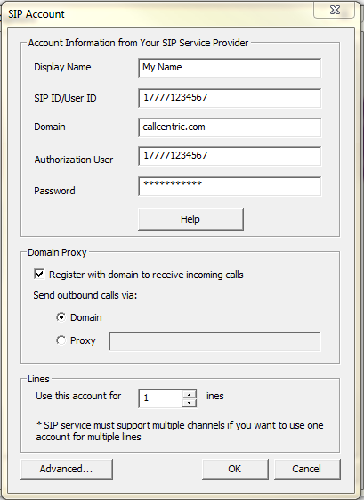 Setup Voicent To Use Your VoIP/SIP Service | Voicent Support